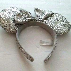 isney parks head band silver